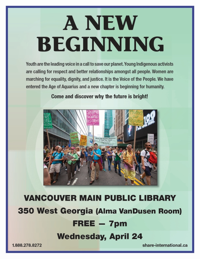 Vancouver event — Wed. April 17th, 2019